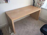 Office desk - pine look - IKEA