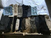 19 pairs of Men's trousers and 2 Shirts. £15 job lot.