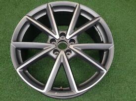 """1x 20"""" Genuine Original AUDI TT RS TTS TTRS (S-LINE) Sport (5-V Spoke) 8V ALLOY WHEEL RIM"""