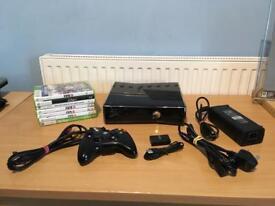XBOX 360 SLIM 250 GB-1 CONTROLLER-7 GAMES