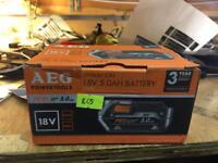 AEG 18v 5ah battery new