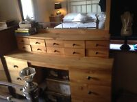 3 piece Beautiful solid oak bedroom furniture!