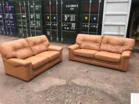 FREE 2+3 seater G PLAN Leather sofas