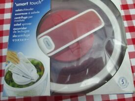 New in Box: Zyliss SwiftDry Salad Spinner - Smart Touch & Brake System, Air Vents, Red