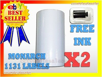 2 Sleeves White Labels For Monarch 1131 Pricing Gun 2 Sleeves16rolls