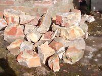 Bricks, rubble, hardcore.
