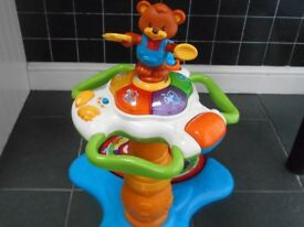 Activity Table with Teddy Bear and Music