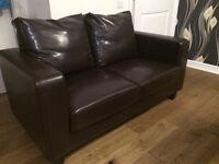 2 seater faux leather sofa, good conditon