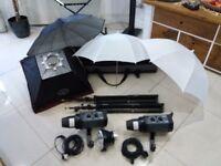 Bowens Gemini Esprit 500watts (2x250w) studio kit