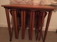 1980s/70s teak nest of tables-Free delivery