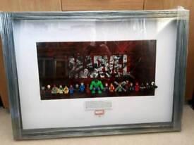 Lego Marvel Super Heroes Framed Brick Art Picture