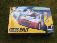 Boxed Scalextric racing set + extras