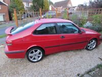 Very rare Saab 93 Turbo Laser Red 2 Door Coupe - 185 BHP Model