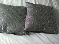 Cushions by next grey with sparkle detail still in shop