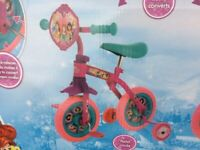 New Disney Princess 2-in-1 Training Balance 10inch Bike RRP £45