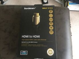HDMI to HDMI gold cable