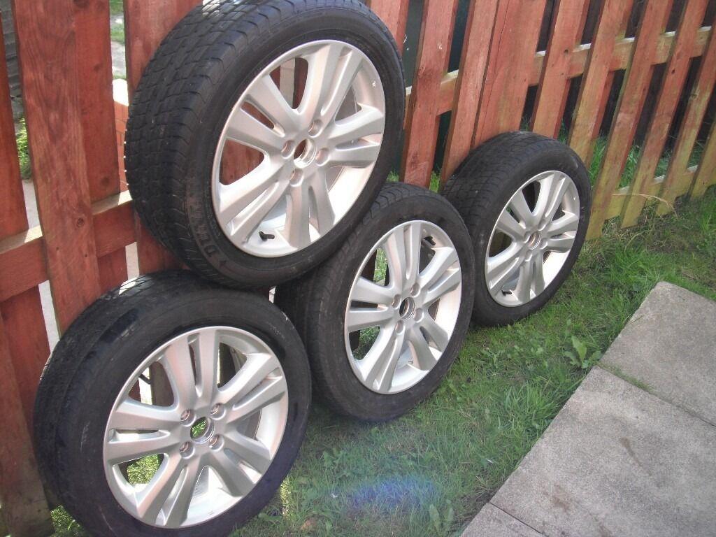 honda jazz 2010 16 alloy wheels tires civic crx l k bargain 175 in batley west yorkshire. Black Bedroom Furniture Sets. Home Design Ideas