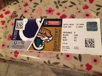NFL Wembley Ticket - Colts vs Jaguars