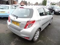 Toyota Yaris D-4D TR 5dr (silver) 2012