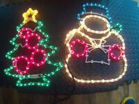 Pair Of Large Xmas Decoration Lights.