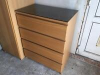 IKEA OAK CHEST DRAWERS............Excellent condition.