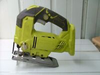RYOBI ONE +, , JIG SAW, WITH GUIDE LIGHT. BARE UNIT.