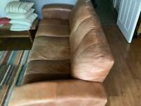 Large 3 seat Leather Sofa