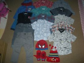 A Lovely Smart Boys Clothes Bundle (inc M&S and Thomas items) ages 18 - 24 months