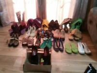Assorted womens' shoes and boots in size 5-6