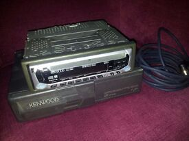 KENWOOD CAR CD PLAYER WITH 6 DISC CHANGER AND CAR VACUUM