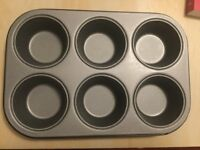 New John Lewis Professional Muffin Tray, 6 Cup