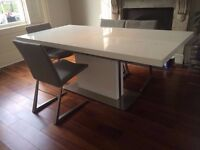 BoConcept Extendable White Dining Table - 3 years old, Chairs not included