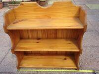 Pine designer 3 shelves unit real wood