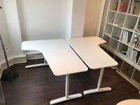 2x Ikea Bekant L shaped corner desks left and right for sale  Central London, London