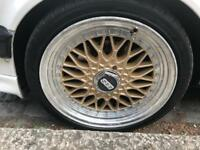 BBS RS 17inch Gold alloy wheels 4x100