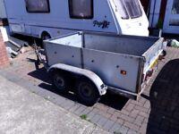 Heavy 6x4 Trailer, twin wheel, unbraked.
