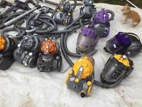 Job lot of dyson vacuum cleaners