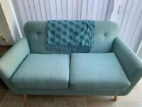 Green mint two seater sofa - like new