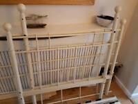 Victorian style cream metal daybed