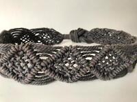 Brown Macrame Tie Belt - Vintage/Hippie Style