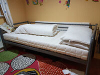 Bed with mattress and quilt in great condition