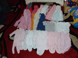 bundle job lot of baby girl clothes 0-3 months around 50 items
