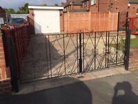 Double ornamental gates