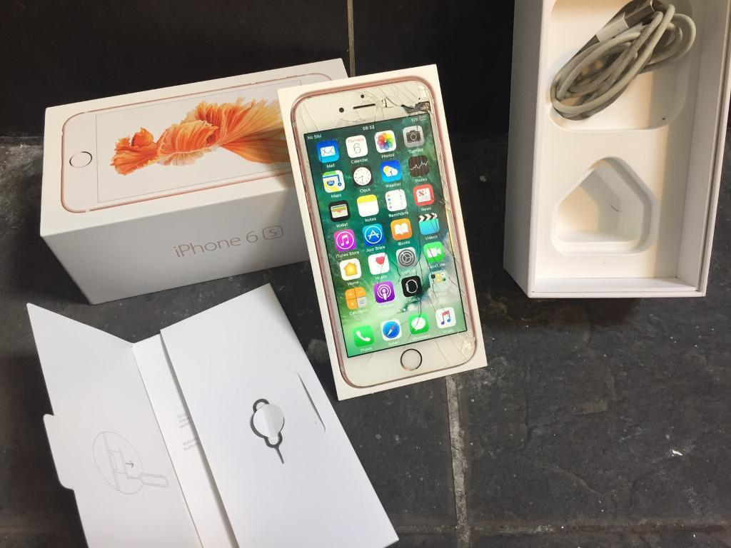 IPhone 6s rose gold 16gb unlockedin Newham, LondonGumtree - iPhone 6s, Rose Gold 16gb. Unlocked to all networks. In good all round working order, unfortunately dropped the phone resorting the screen to crack (see photos) however doesnt stop the phones performance, touch and everything still works as normal....