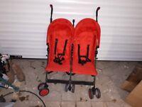 Zeta Citi Twin Stroller / pushchair