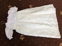 Brand new White & Ivory satin christening gown