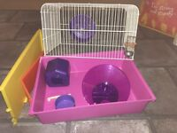 Starter Hamster cage pretty In pink and purple