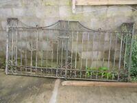 1934 Vintage Wrought Iron Double Gates