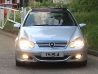 2006 Mercedes C220 2.1cdi diesel 3dr leather interior/panoramic roof/FSH/2 precious owners