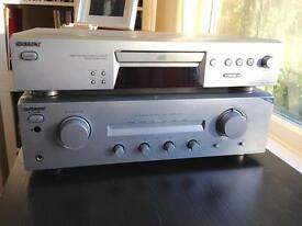 Sony TA-FE370 amplifier & CDP-XE270 CD player - HiFi stereo separates